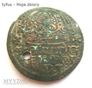 GROSZ KORONNY ZYGMUNTA III WAZY - FALS (1611)