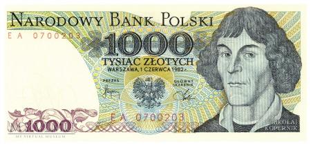 Polska - 1 000 złotych (1982)