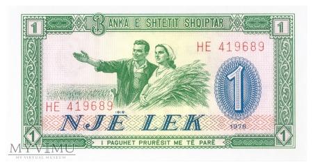 Albania - 1 lek (1976)