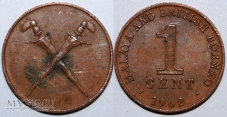 Malaje, Borneo 1 CENT 1962