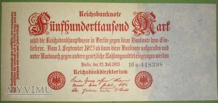 500 000 Mark 1923 - Reichsbanknote - Niemcy