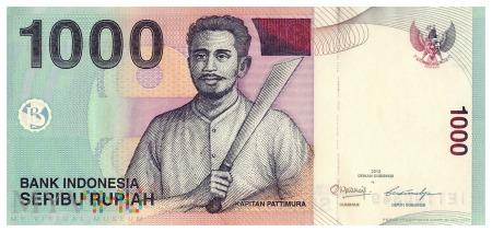 Indonezja - 1 000 rupii (2012)