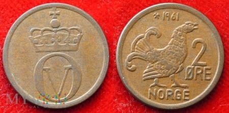 Norwegia, 2 Øre 1961