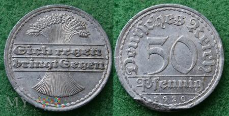 Niemcy, 1920, 50 PFENNIG