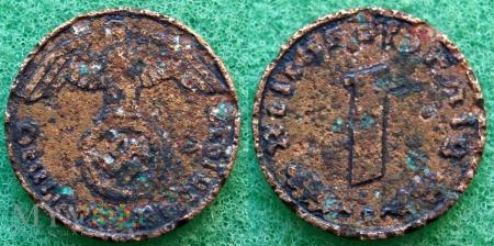 Niemcy, 1937, 1 Reichspfennig