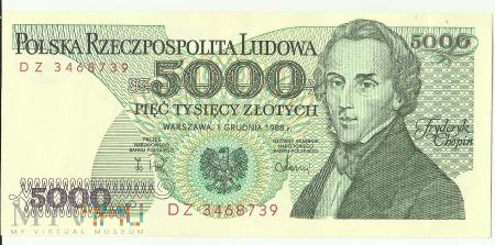 Banknot 5 000 1 grudnia 1988
