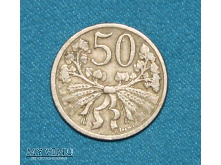50 Haller-Czechosłowacja 1922