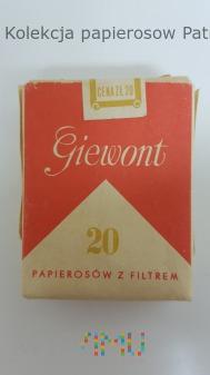 Papierosy GIEWONT 1986 rok cena 20 zł
