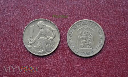 Moneta czechosłowacka: 1 korona