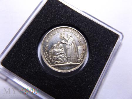 Duże zdjęcie Medal ślubny 1871 srebro