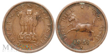 Indie, 1 pice 1951