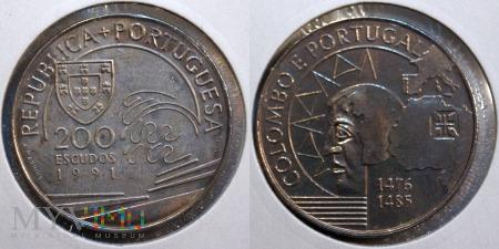 Duże zdjęcie Portugalia, 200 ESCUDOS 1991