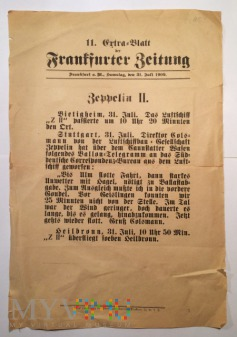 Crtra-Blatt der Frankfurter Zeitung, 31. Juli 1909