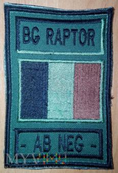 Grupa operacyjna Raptor - Afganistan - grupa krwi