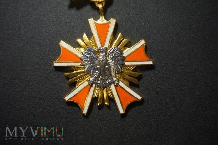 Złota Oznaka Orderu Zasługi PRL + Legitymacja
