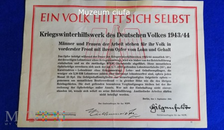 Kriegswinterhilfswerk-Ein Volk...plakat