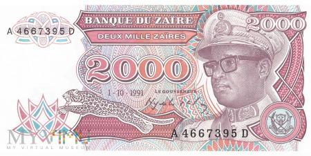 Zair - 2 000 zairów (1991)