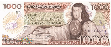 Meksyk - 1 000 pesos (1985)