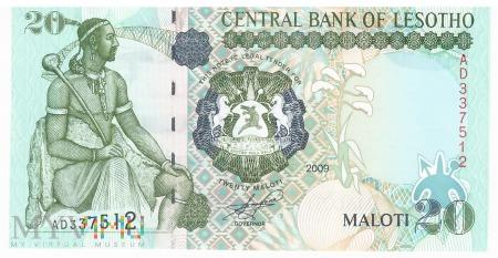 Lesotho - 20 maloti (2009)