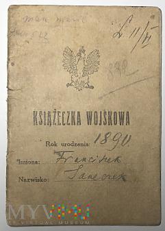 II RP Książeczka wojskowa Częstochowa 1927