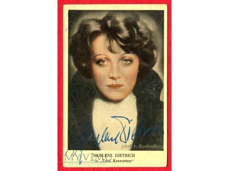 Duże zdjęcie Marlene Dietrich GOLD SABA papierosy reklama