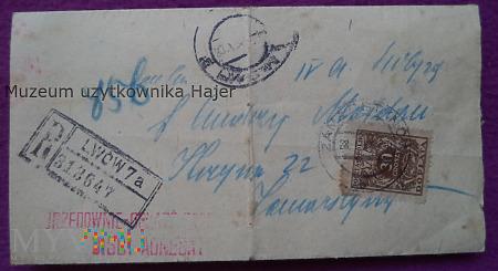 Lwów 1930 rok pismo z Sądu Grodzkiego
