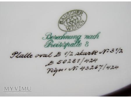 Polmisek z monogramem TvH