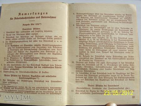 ARBEITSBUCH - NIEMIECKA KSIĄŻKA PRACY 2-model
