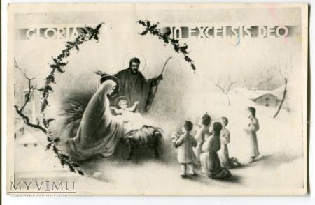 Pastuszkowie Święta Rodzina Stajenka c. 1960