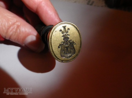 Herb Korab -pieczęć herbowa,tłok do laku nr 1