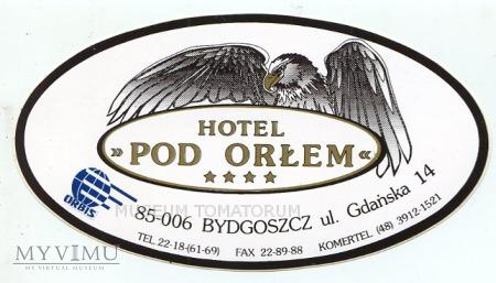 Duże zdjęcie Nalepka hotelowa - Bydgoszcz - Hotel Pod Orłem