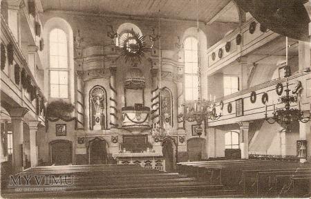 Wnętrze Kościoła Ewangelickiego 1920r.