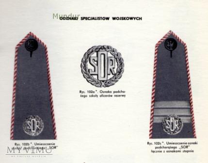 Oznaki szkolne Szkoły Oficerów Rezerwy (SOR)