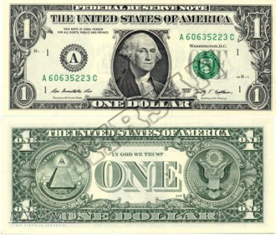 Banknot $ 1.00 2009 r