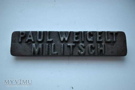 PAUL WEIGELT ORGINAL VICTORIA MILITSCH