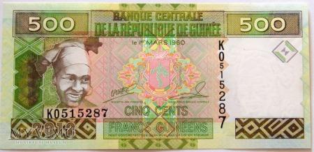 Gwinea Fr., 500 centów 2012r
