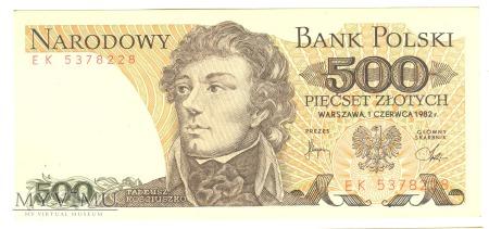 500 złotych PRL 1982