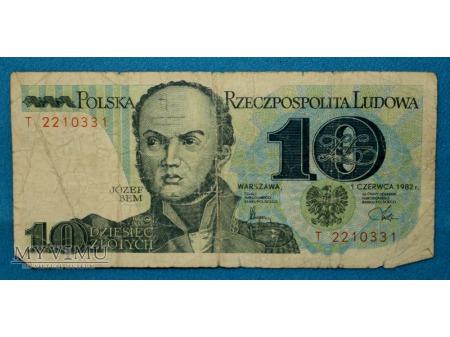 10 złotych 1982
