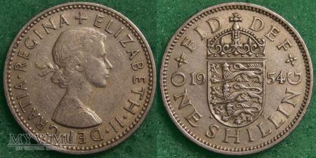 Wielka Brytania, ONE SHILLING 1954