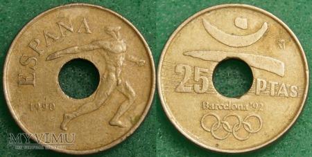Hiszpania, 25 PESETAS 1990