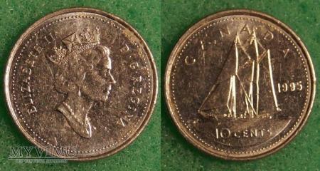 Duże zdjęcie Kanada, 10 CENTS 1995