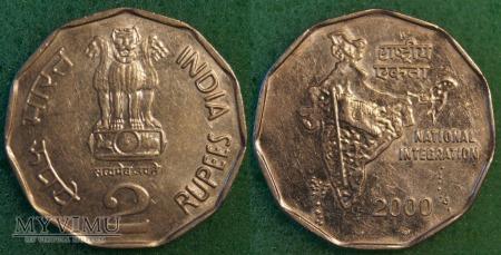 Indie, 2 rupie 2000