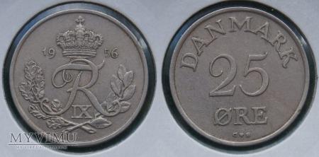 Dania, 25 Øre 1956