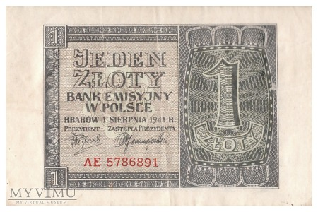 Polska - 1 złoty (1941)