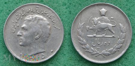 Iran, 10 rial 1971