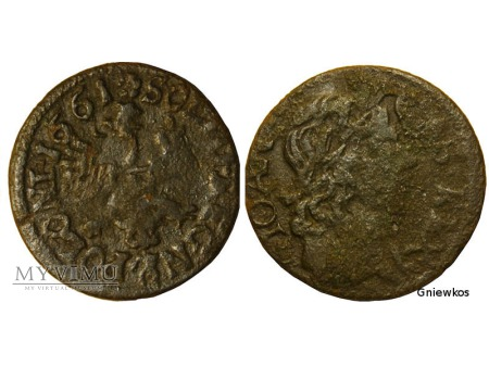 szeląg koronny 1661 8