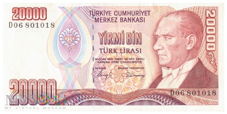 Turcja - 20 000 lir (1997)