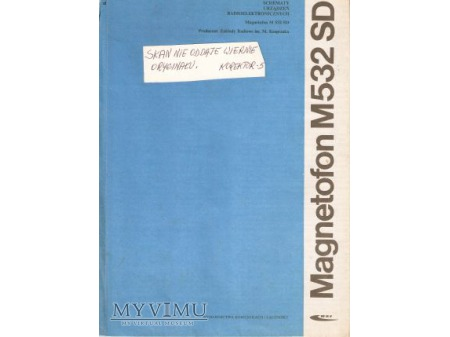Instrukcja serwisowa magnetofonu M-532SD