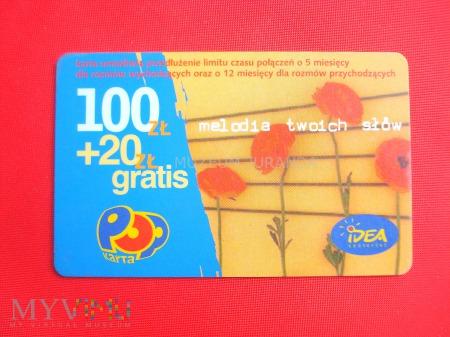 Idea POP 100 zł. + 20 zł. gratis