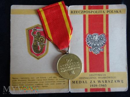 Medal i nadanie ,,Medal za Warszawę''